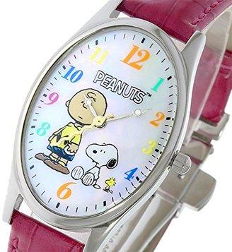 Snoopy スヌーピー Watch スヌーピー&チャーリーブラウン レディース 腕時計 SP-1027C ホワイトシェル