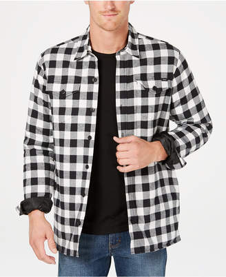 Dickies Men Fleece-Lined Plaid Flannel Shirt Jacket