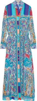 Etro - Printed Crinkled Silk-chiffon Maxi Dress - Blue $1,490 thestylecure.com