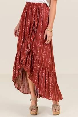 Dory Maxi Skirt - Brick