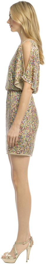 Trina Turk Vega Multi Sequin Dress