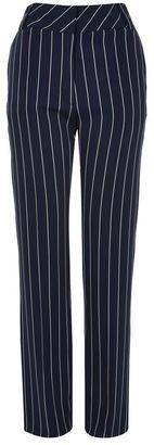 Topshop Stripe wide leg trousers