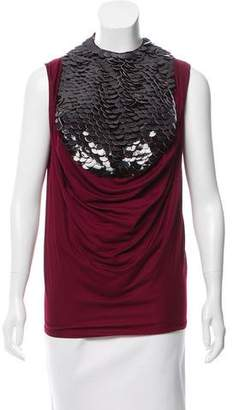 Doo.Ri Patent Leather-Accented Sleeveless Top