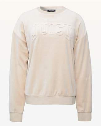 Juicy Couture Embossed Juicy Velour Pullover