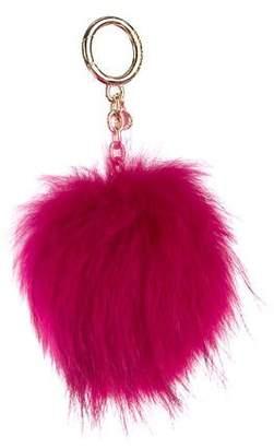 Michael Kors Fox Fur Keychain w/ Tags