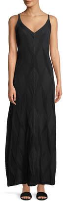 Issey Miyake Sleeveless Diamond Pleated A-Line Dress