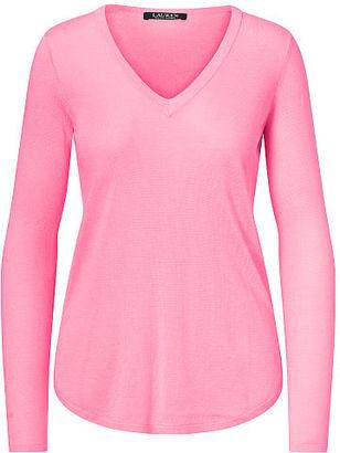 Ralph Lauren Silk-Blend V-Neck Sweater $89.50 thestylecure.com