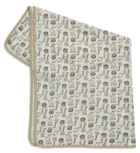 Little Me Animal Patterned Cotton Blanket