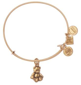 Alex and Ani Charity By Design Little Brown Bear Expandable Wire Bracelet