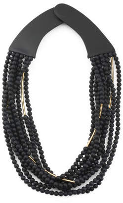 Handmade In Italy Leather Mini Bella Beaded Necklace