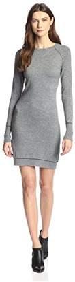 James & Erin Women's Contrast Stitch Sweater Dress