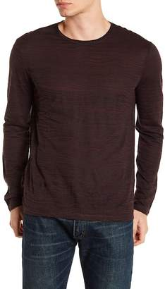 John Varvatos Distorted Stripe Crew Neck Sweater