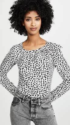 Rebecca Taylor Long Sleeve Le Jaguar Top