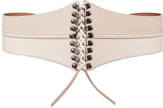 BCBGMAXAZRIA Faux-Leather Corset Waist-Tie Belt