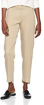 Selected Women's Sfamila Cross Mw Pant Trouser, Brown Silver Mink, (Size: 36)