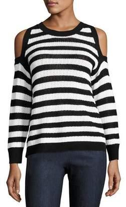 Rag & Bone Tracey Crewneck Cotton Sweater, Multipattern