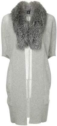 Sofia Cashmere cropped sleeve cardi-coat