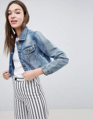 Brave Soul Fitz Crop Denim Jacket