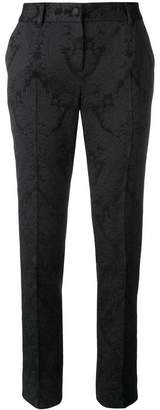Dolce & Gabbana floral embroidery slim-fit trousers