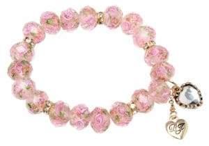 Betsey Johnson Pink Stretch Bracelet