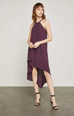 BCBGMAXAZRIA Lanna High-Low Draped Ruffle Dress
