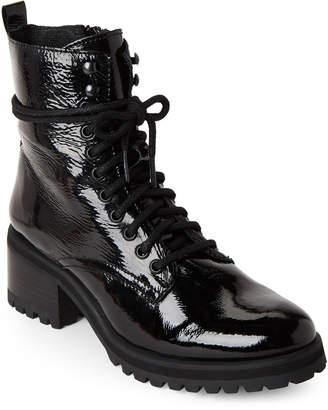 Steve Madden Black Geneva Combat Boots