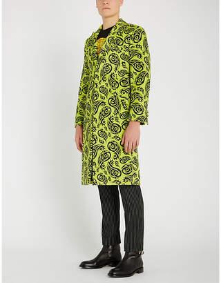 SSS WORLD CORP Paisley-print velvet coat