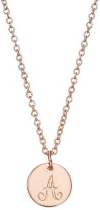 LC Lauren Conrad Rose Gold Tone Monogram Circle Pendant Necklace $12 thestylecure.com