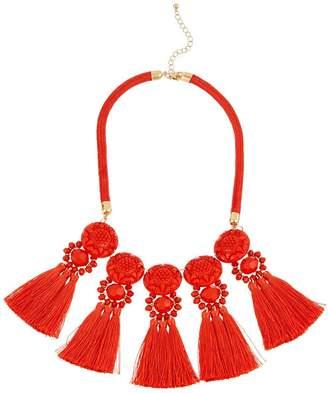 Very Statement Tassel Necklace - Orange