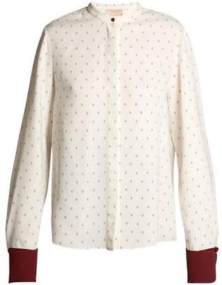 Roksanda Carone geometric-print silk blouse
