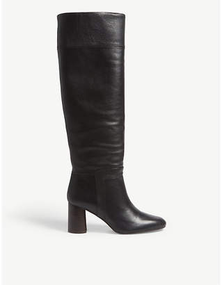 Claudie Pierlot Leather knee high boot