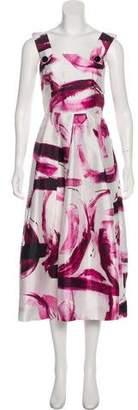 Dolce & Gabbana Brush Stroke Silk Dress w/ Tags