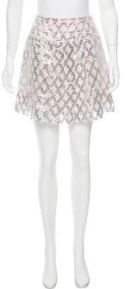 Tanya Taylor Metallic Mini Skirt