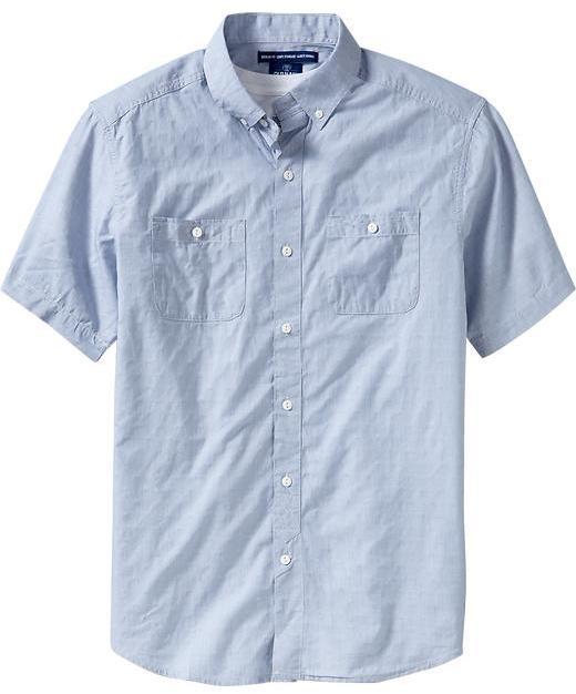Old Navy Men's Double-Pocket Regular Fit Shirts