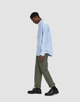 Engineered Garments Fatigue Cotton Double Cloth Pant in Olive