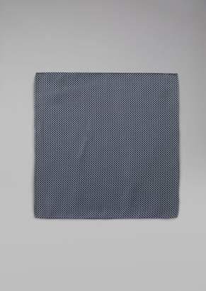 Giorgio Armani Pure Silk Pocket Square With Polka Dot Pattern