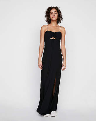 Express Petite Tie Front Cutout Maxi Dress