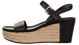 Prada Sport Leather Platform Sandals