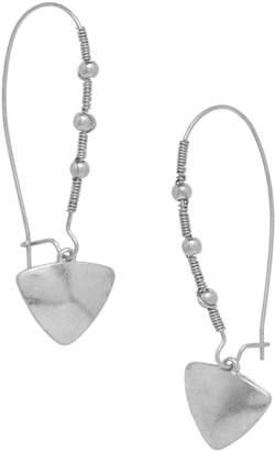 Canvas Silvertone Drop Earrings