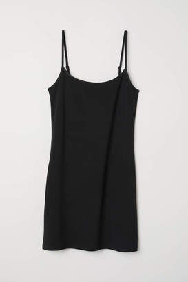 H&M Long Jersey Camisole Top - Black - Women