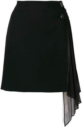 Givenchy side frill fitted skirt