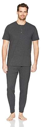 The Slumber Project Men's Short Sleeve Henley and Sleep Pant