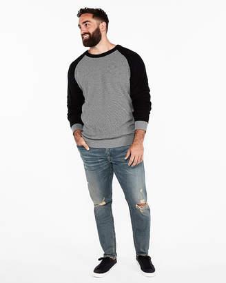 Express Textured Cotton Crew Neck Sweater
