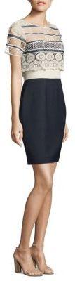 Elie Tahari Carline Crochet Dress $398 thestylecure.com