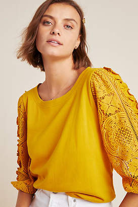 Anthropologie Nina Lace Top
