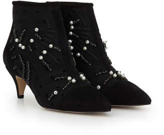 365246f58cc21 Black Suede Shoe Boot Kitten Heel - ShopStyle Canada