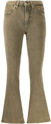 Dondup corduroy cropped flared trousers