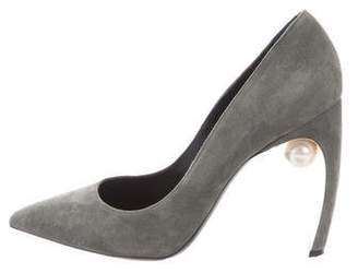 Nicholas Kirkwood Suede Pointed-Toe Pumps