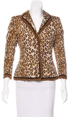 Alexander McQueen Silk Fur-Trimmed Blazer