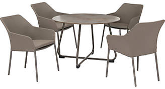 Kettler Manhattan 4 Seater 'Wrap' Garden Table and Chairs Set, Taupe